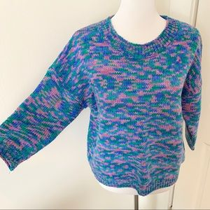 Anthropologie Sweaters - Pink, Blue, Green Marled Sweater by Moth
